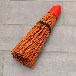 Садовые щетки и метлы - Метла полипропиленовая «Премиум», синтетическая, без черенка, цвет МИКС, 0