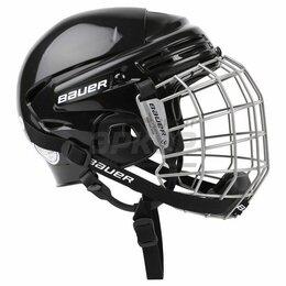 Спортивная защита - Шлем хоккейный игрока Bauer 2100 Combo c маской чёрн (х2), 0