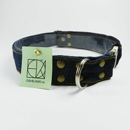 Ошейники  - Ошейник джинсовый для средних и крупных собак, 0
