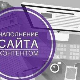 IT, интернет и реклама - Наполнить сайт контентом, 0