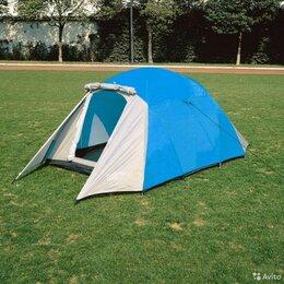 Палатки - Палатка 3-х местная, двухслойная, двухкомнатная, два входа, 0