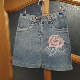 Юбки - Юбка джинсовая на девочку размер 36, 0