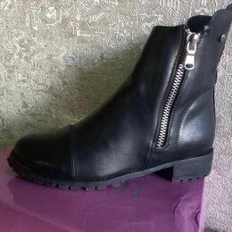 Полусапоги - Черные женские ботинки, 0
