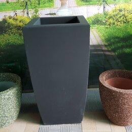 Садовые фигуры и цветочницы - Вазон бетонный Ирис, 0