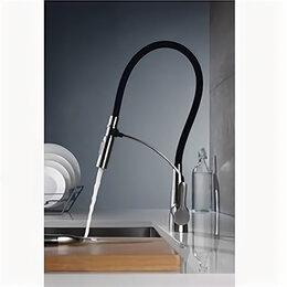Краны для воды - Смеситель для кухни BelBagno с поворотным выдвижным изливом нержавеющая сталь..., 0