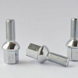 Шины, диски и комплектующие - Болты колесные М12х1,5 (54/27)  Хром сфера ключ 17, 0