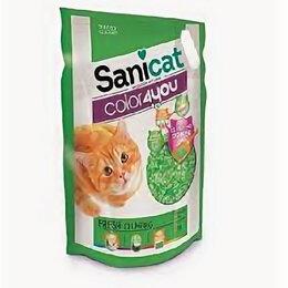Наполнители для туалетов - SANICAT COLOR4YOU PINK силикагелевый наполнитель 5л, комкующийся, FLORAL , 0