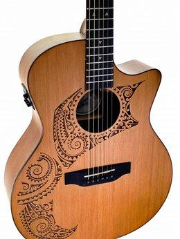 Акустические и классические гитары - LUNA OCL TAT CDR электроакустическая…, 0