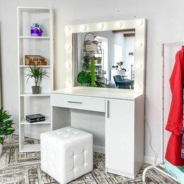 Столы и столики - Макияжный столик и гримёрное зеркало с подсветкой, 0