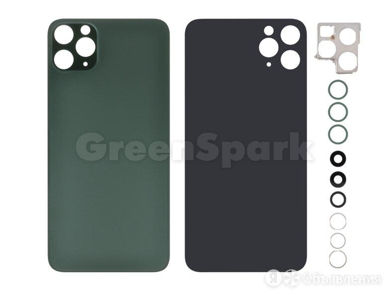 Задняя крышка для iPhone 11 Pro Max (зеленый) со стеклом камеры класс AAA по цене 850₽ - Корпусные детали, фото 0