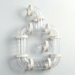 Игрушки и декор  - Лабиринт для грызунов 3, 10 элементов, прозрачный, 0