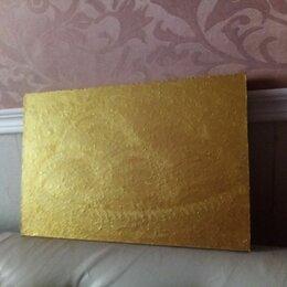 """Картины, постеры, гобелены, панно - Картина """"Персики золотые """"(двухсторонняя), 0"""