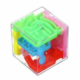 "Головоломки - Головоломка кубик ""3D лабиринт"", 4.5 см, 0"