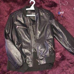 Куртки - Кожаная куртка женская, 0