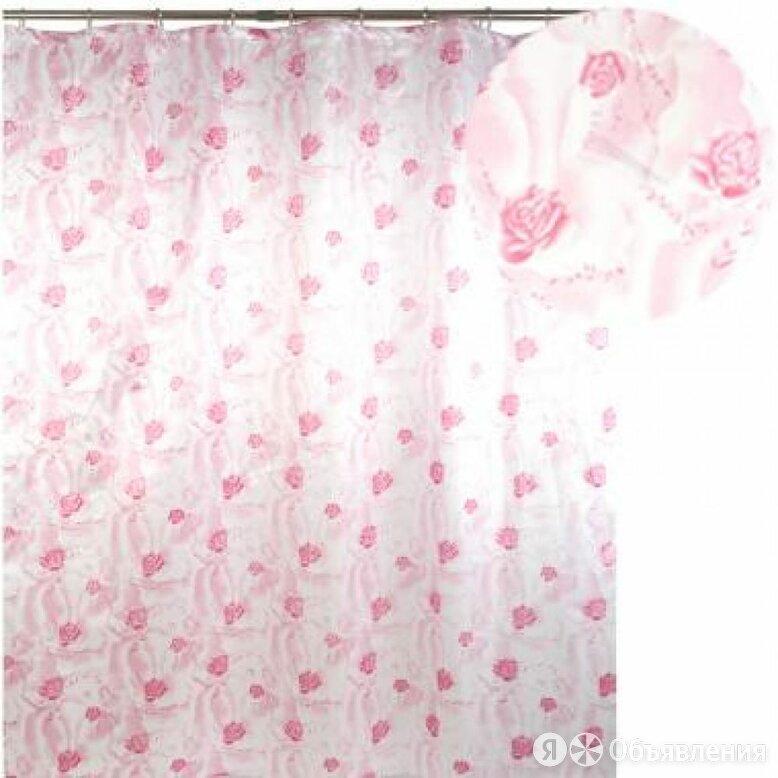 Штора для ванной Аквалиния Розовая по цене 718₽ - Шторы и карнизы, фото 0