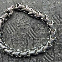 Комплекты - Креативные мужские серебряные браслеты,кольца,перстни., 0