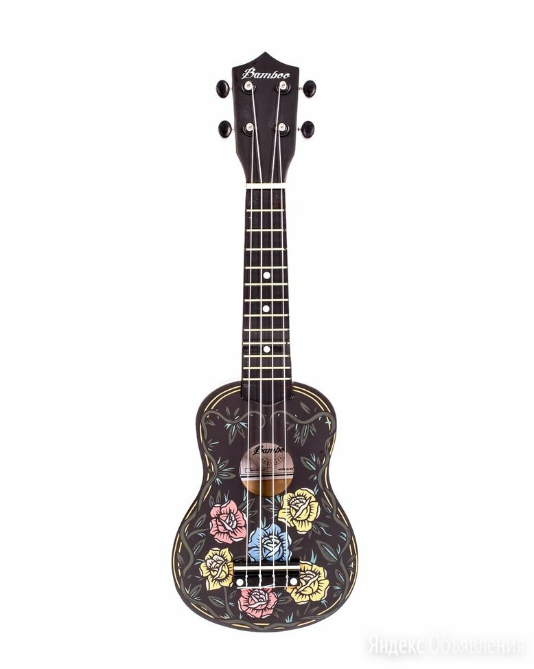 Укулеле сопрано Bamboo BU-21 Aurora рисунок розы по цене 3490₽ - Акустические и классические гитары, фото 0
