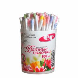 Ватные палочки и диски - Сигма Мед Разноцветные ватные палочки 100 шт в банке, 0