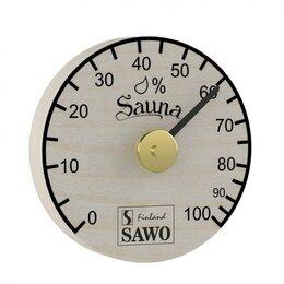 Датчики температуры, влажности и заморозки - Гигрометр, простой круглый, Сосна, 100-HBP, 0
