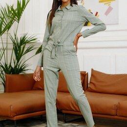 Комплекты верхней одежды - Комбинезон крупная клетка, 0