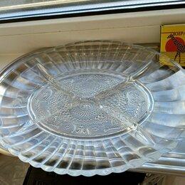 Блюда, салатники и соусники - Хрустальная менажница для ассорти. Продаётся в связи с ремонтом., 0