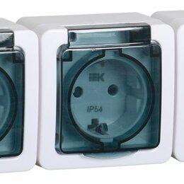 Электроустановочные изделия - Розетка РСб23-3-ГПБд 3ОП для о/у с/з ( дымчатый) IP54 ГЕРМЕС PLUS, 0