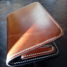 Кошельки - Портмоне для документов с монетницей из кожи ручной работы, 0