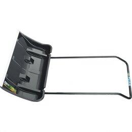 Лопаты и движки для снега - Скрепер для снега 800х440х1300, 2 части (ковш с колес., ручка) LUXE// Palisad, 0