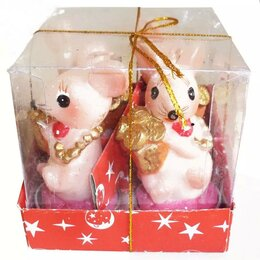 Декоративные свечи - Свеча Мышка с золотом 779 8,5см (оптом - 4 штуки), 0