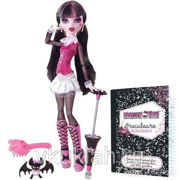 Кукла Monster High Дракулаура (базовая)  по цене 15000₽ - Куклы и пупсы, фото 0