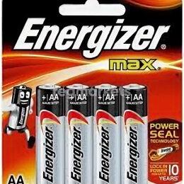 Батарейки - Батарейка Energizer MAX LR06 FSB4 АА, 4 шт. на картон. блистере - пальчиковая, 0