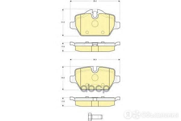 Колодки Тормозные Bmw E81/E87/E90 1.6-2.0 04- Задние Girling арт. 6116121 по цене 3000₽ - Тормозная система , фото 0