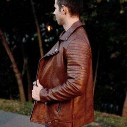 Куртки - Куртка мужская кожзам, 0