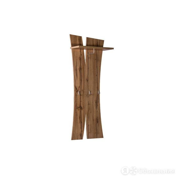 Вешалка настенная с полкой Римини 690х300х1800 дуб ватан/бетон чикаго по цене 10634₽ - Вешалки настенные, фото 0
