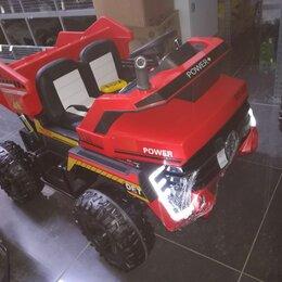 Электромобили - Детский электромобиль самосвал 4х4, 0