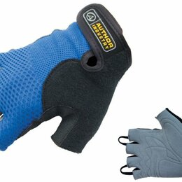 Прочие аксессуары и запчасти - Велоперчатки AUTHOR Team 3, серо-голубые (Размер: М), 0