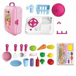 Игрушечная еда и посуда - Игровой набор Кухня 8742WB в чемодане озвученный, 0