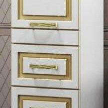 Кровати - Пенал OPADIRIS Оникс левый белое золото, 0