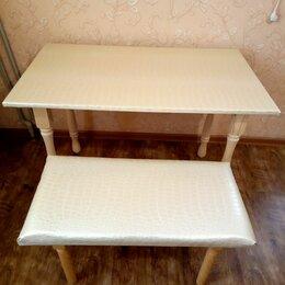 Столы и столики - Новый Стол и Пуфик кож.зам, 0