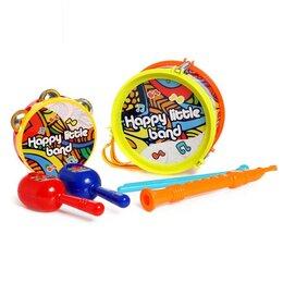 Детские наборы инструментов - Набор музыкальных инструментов «Бэнд», 7 предметов, цвета МИКС, 0