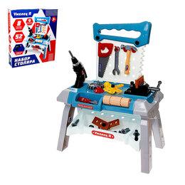 Детские наборы инструментов - Игровой модуль «Мастер на все руки», 52 элемента, дрель работает от батареек, 0