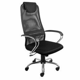 Компьютерные кресла - Компьютерное кресло сетка AV142CH хромированное, 0