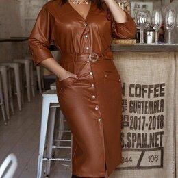 Платья - Кожаное платье р-ры 52-62, 0