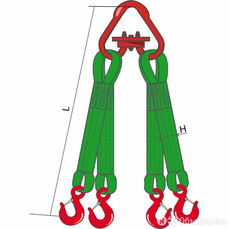 Текстильная четырехветвевая стропа КантаПлюс 4СТ-10,0/4,0м по цене 19367₽ - Грузоподъемное оборудование, фото 0