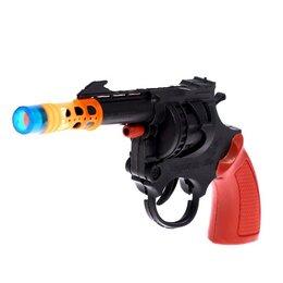 Игрушечное оружие и бластеры - Пистолет «Револьвер», стреляет 8-ми зарядными пистонами, 0