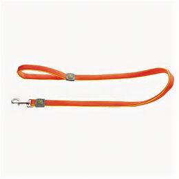 Поводки  - HUNTER поводок для собак MAUI 25/120 сетчатый текстиль оранжевый , 0