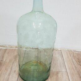 Бутылки - Бутыль, бутылка стеклянная с пробкой для вина или самогона, 0