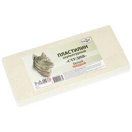 Лепка - Пластилин скульптурный Гамма Студия белый 1000 г т, 0