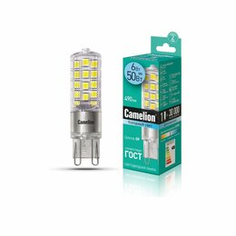 Лампочки - Светодиодные лампы Camelion Лампа светодиодная капсула LED6-G9-NF/845/G9 6Вт ..., 0