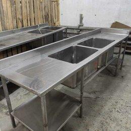 Прочее оборудование - Ванна моечная 2х секционная со столом, 0